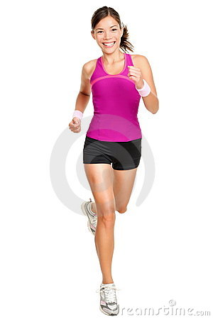 Free Runner Woman Isolated Stock Image - 22028891