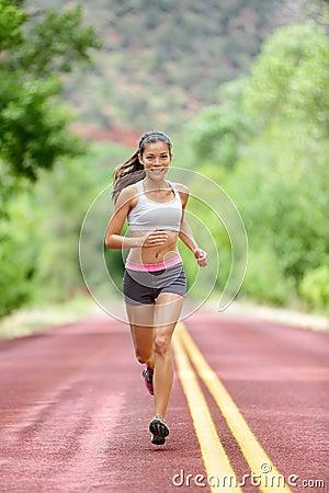 runner woman running training living healthy life