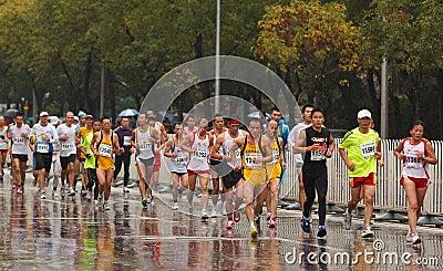 Runners Editorial Stock Photo