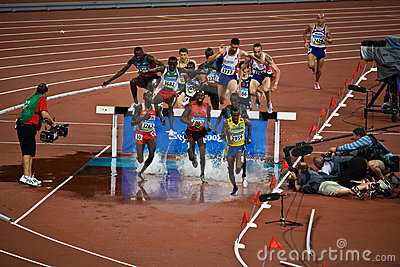 Runners at Beijing Olympics Editorial Stock Photo