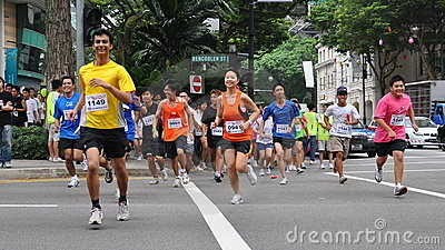 Runners at Create Action Now! (CAN) run Editorial Image