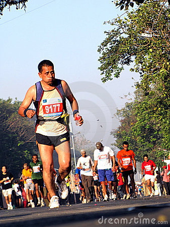 Runners in mumbai marathon 2010 Editorial Stock Photo