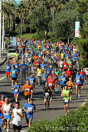 Runners on the popular race Editorial Image