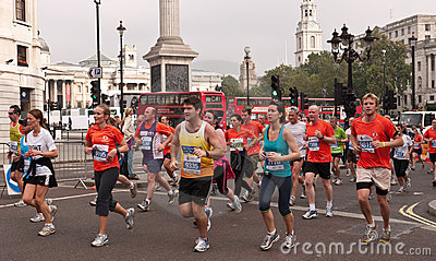 Runners in the Royal Parks Half Marathon, London Editorial Image