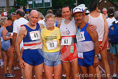 Runners at the Senior Olympics Editorial Image