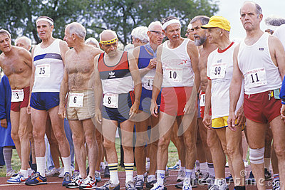 Runners at the Senior Olympics Editorial Photo