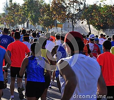 Runners on start of the half marathon Editorial Photo