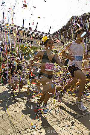 Runners in the Toronto Gay Pride race Editorial Stock Photo