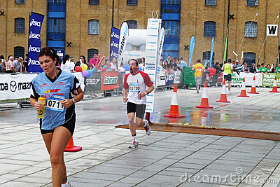 Runners On The Track At The Mazda London Triathlon Editorial Photo