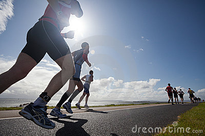 Runners, triathlon Editorial Photo