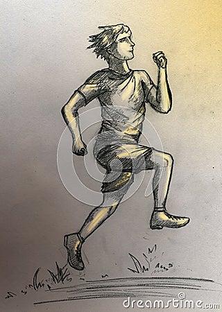 Running athlete man