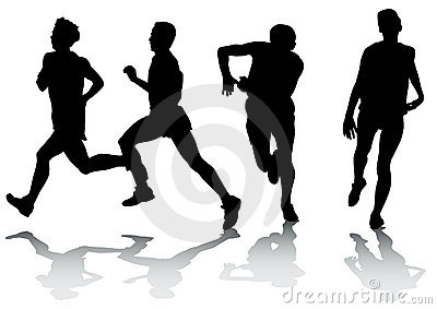 Running athletes