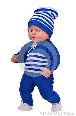 Free Running Baby Boy Doll Royalty Free Stock Images - 48138129