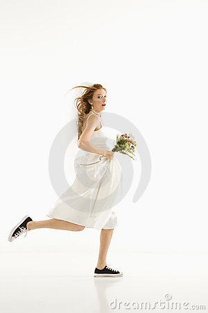Free Running Bride. Stock Photos - 2678833