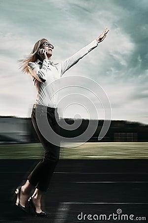 Free Running Business Woman Stock Photos - 42599293