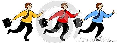 The running businessman