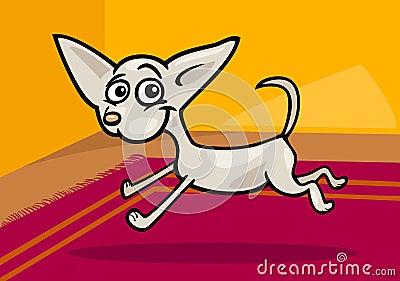 Running chihuahua cartoon illustration