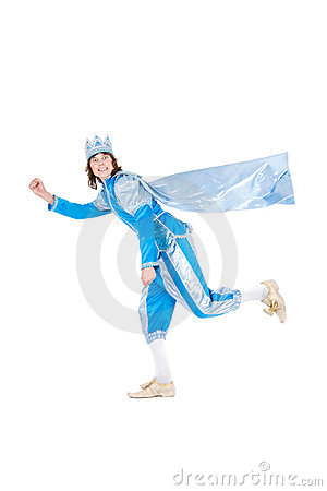Free Running Comic Prince Stock Photo - 22924030