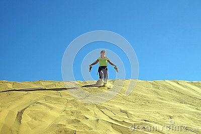 Running down the dune