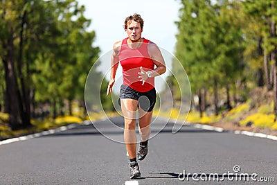 Running fitness sport man