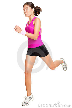 Free Running Fitness Woman Isolated Stock Image - 20554031