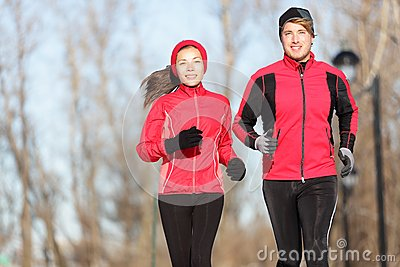 Running friends in winter