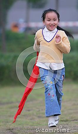 Free Running Girl Stock Photography - 6627522