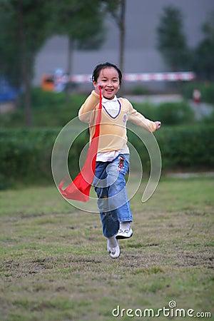 Free Running Girl Stock Photography - 6629982