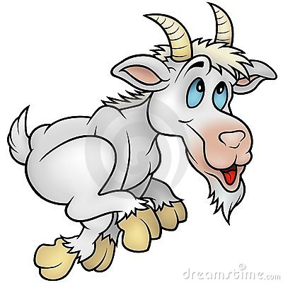 Free Running Goat Royalty Free Stock Photography - 12622017