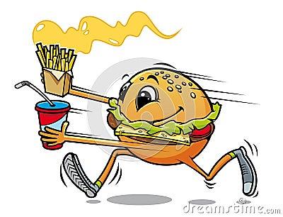 Running hamburger