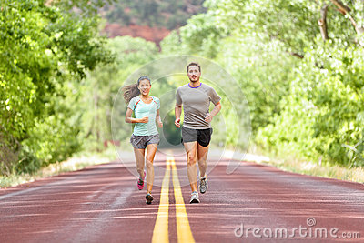 running health and fitness  runners jogging stock photo
