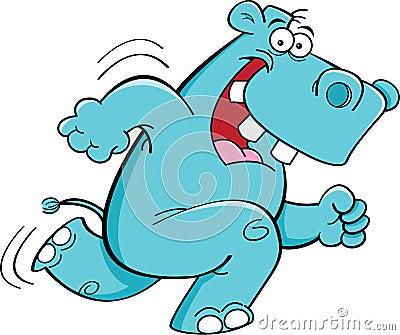 Running hippopotamus