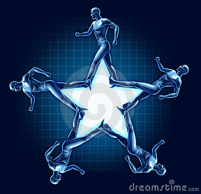 Running human star shape health exercise award