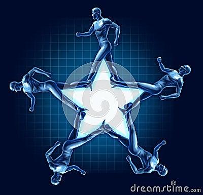 Running human star shape health exercise award