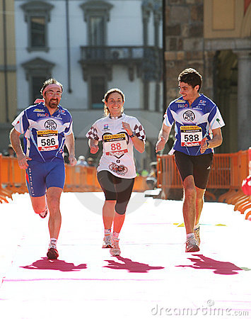 Running for the joy Editorial Stock Image