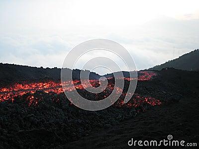 The running lava