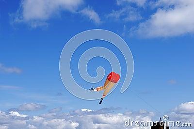 Running Legs Kite in the Blue Skies