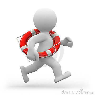 Free Running Lifeguard Royalty Free Stock Images - 14016229