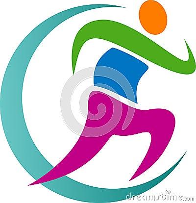 Free Running Logo Stock Photo - 25432780