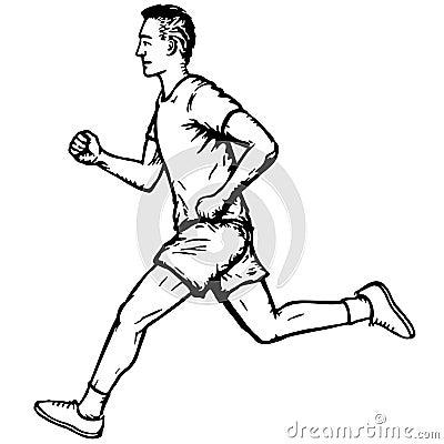 running man royalty free stock image image 17991086 running shoes clip art border free running shoe clip art template