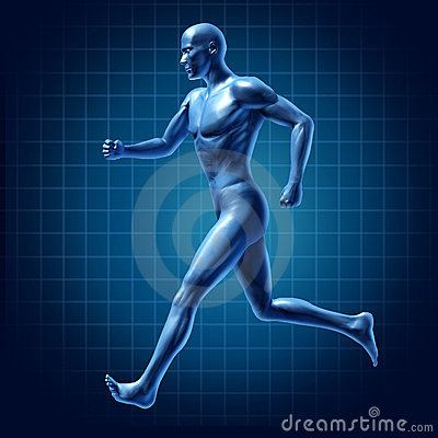 Running man active runner energy diagram medica