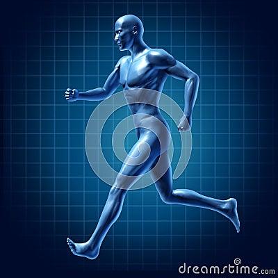Running man active runner energy diagram medica