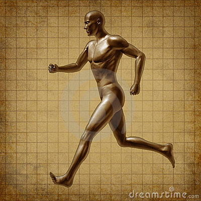 Running man active runner energy medical health