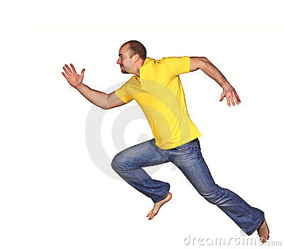 Running man isolated