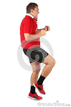 Free Running Man Profile Royalty Free Stock Photography - 7550177