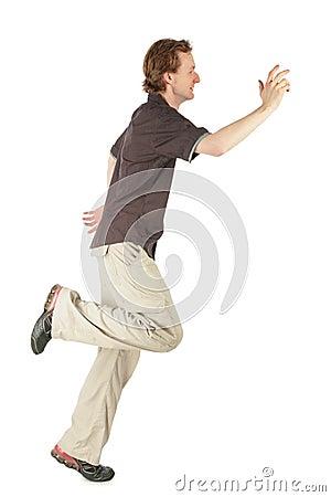 Free Running Man Profile Royalty Free Stock Photo - 8074585