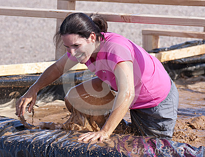 Running, Mud, and Obstacle Course Editorial Photography