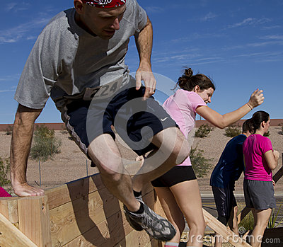 Running, Jumping,and Obstacle Course Editorial Stock Photo