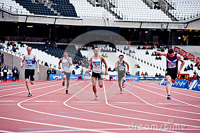 Running at the olympic stadium Editorial Stock Photo