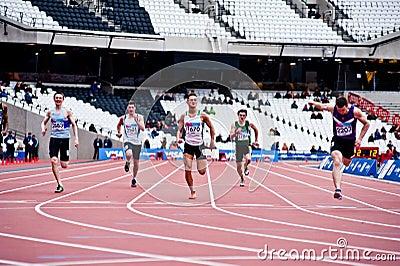 Running at the olympic stadium Editorial Stock Photo